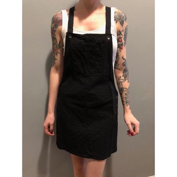 351ca45243 Boohoo Dresses   Skirts - 🖤 black denim overall dress by boohoo 🖤